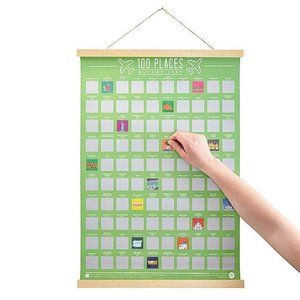 100 Places to go Scratch Off Bucket List Poster